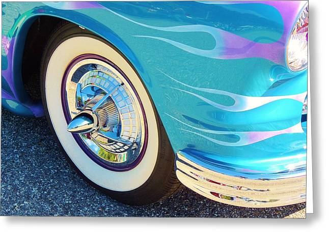 American Grafitti Greeting Cards - Lets Roll Greeting Card by Lisa Gilliam