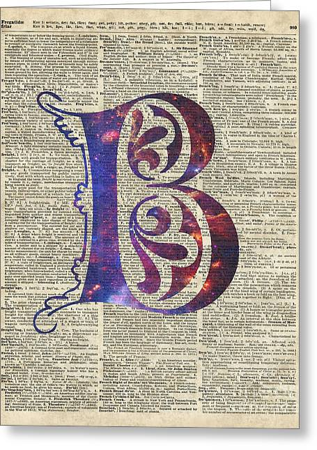 Letter J Greeting Cards - Letter B Monogram Greeting Card by Jacob Kuch