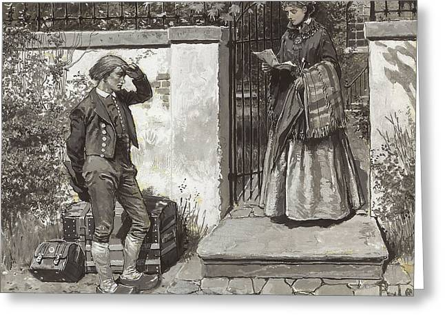 Letter Of Introduction  Greeting Card by Howard Pyle