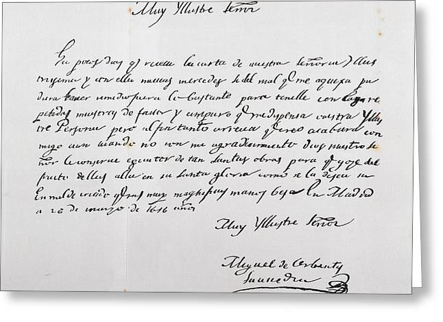 Letter Written To Archbishop Of Toledo Greeting Card by Vintage Design Pics