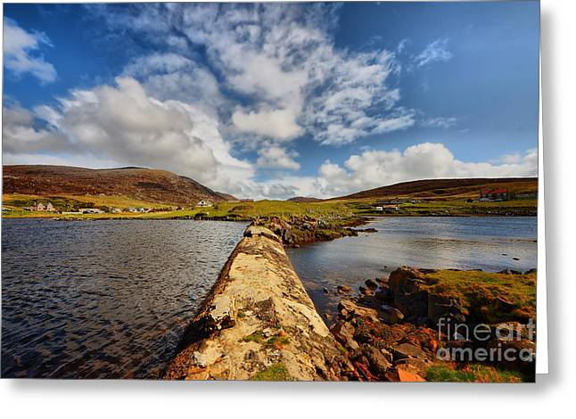 Leverburgh Greeting Card by Stephen Smith