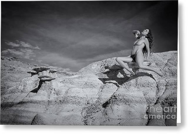 Levitation Greeting Card by Inge Johnsson