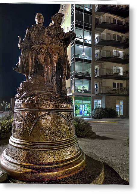 Metal Art Greeting Cards - LEWIS and CLARK at the END of the TRAIL -- OREGON STATE COAST Greeting Card by Daniel Hagerman