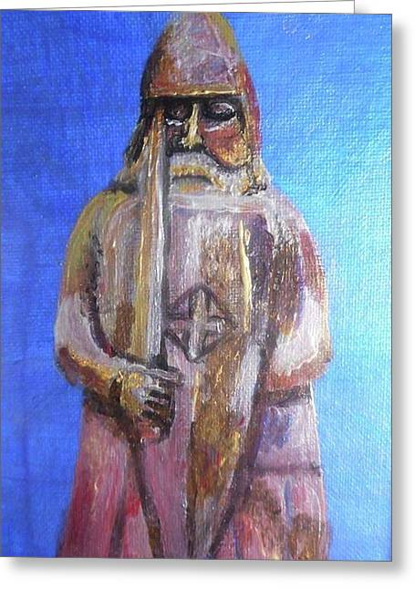 Lewis Chessmen Greeting Card by Patricia Hovey