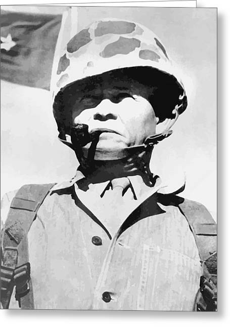 Lewis Puller Greeting Cards - Lewis Chesty Puller Greeting Card by War Is Hell Store