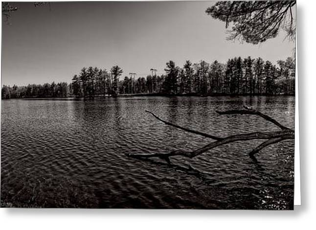 Maine Landscape Greeting Cards - Lewiston Between The Dams Greeting Card by Bob Orsillo