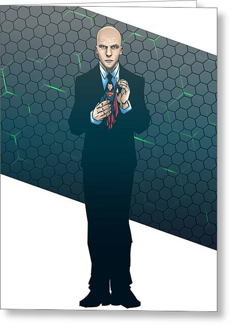 Lex Luthor Greeting Cards - Lex Dawn of Justice Greeting Card by Akyanyme