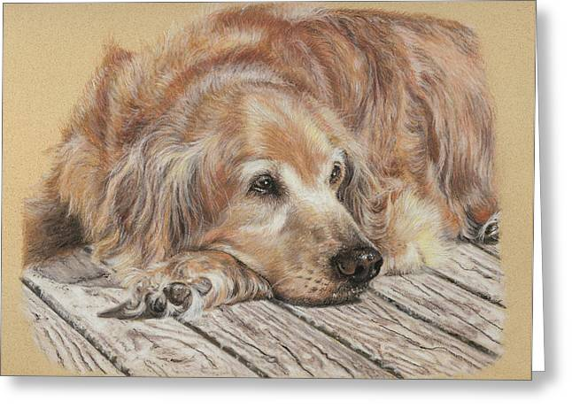 Oil Pastels Pastels Greeting Cards - Lexie Greeting Card by Terry Kirkland Cook