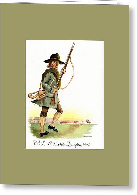Lexington Massachusetts  Minuteman 1775 Greeting Card by Jeff Blazejovsky