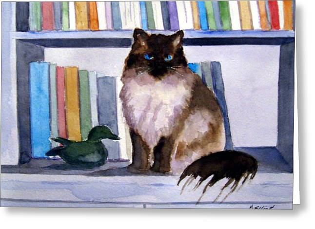 Library Paintings Greeting Cards - Lhasa Greeting Card by Marsha Elliott