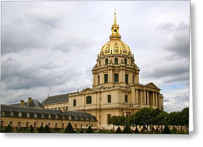 L'hotel Des Invalides, Paris Greeting Card by Amy Sorvillo