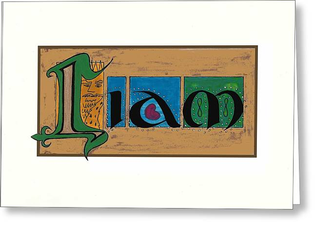 Love Letter Drawings Greeting Cards - Liam Greeting Card by Tina Guide