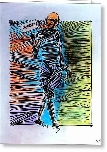 Lib - 916 Greeting Card by Artist Singh