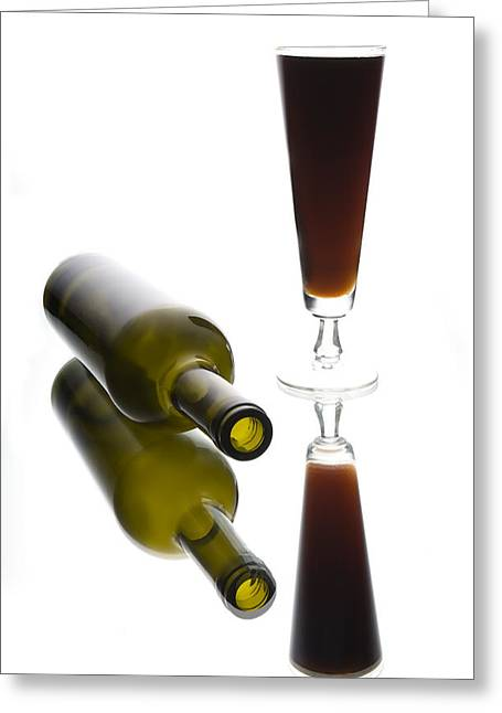 Wine-bottle Greeting Cards - Libation 2 Greeting Card by Patrick Ziegler