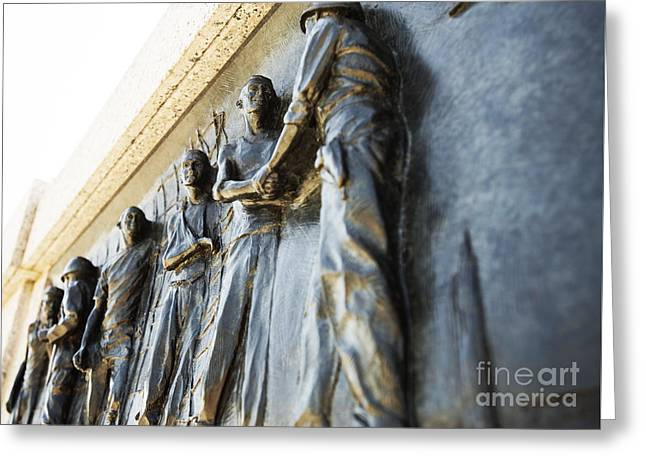 Greatest Generation Greeting Cards - Liberation  Greeting Card by David Bearden