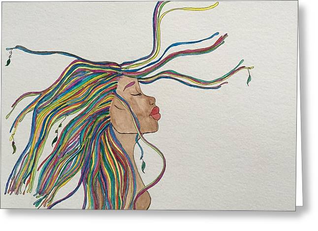 Liberation Drawings Greeting Cards - Liberation  Greeting Card by Lorna Lowe