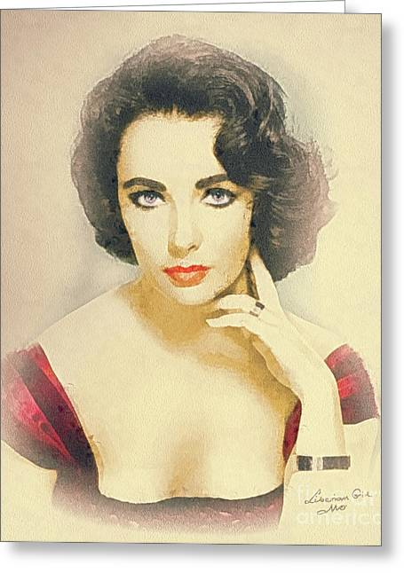 Liz Taylor Greeting Cards - Liberian Girl Greeting Card by Mo T