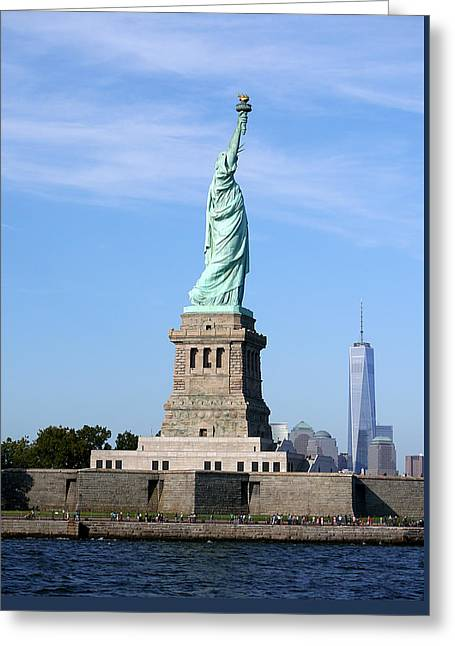 Liberty And Freedom Greeting Card by Richard Reeve