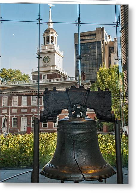 Independance Greeting Cards - Liberty Bell Greeting Card by Mark Dodd