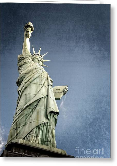 Liberty Enlightening The World Greeting Card by Charles Dobbs