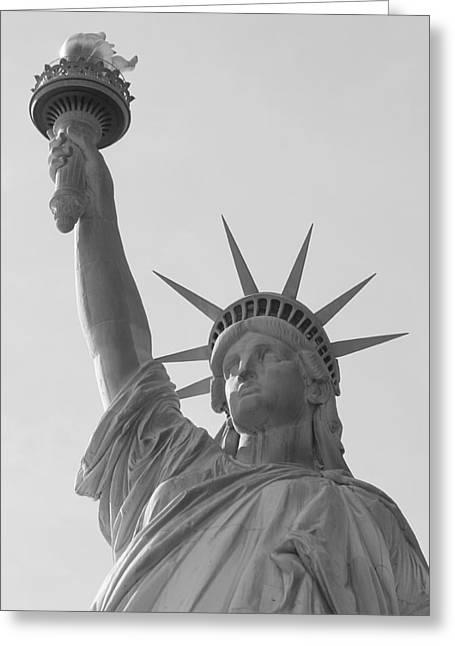 Libertas Greeting Cards - Liberty Mono Greeting Card by Richard Reeve