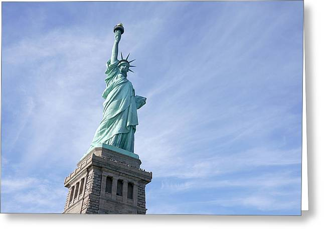 Liberty Rising Greeting Card by Richard Reeve