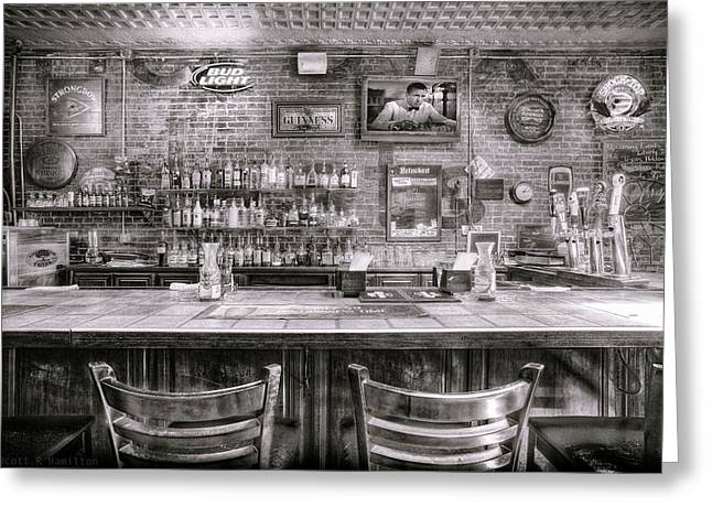 Saloons Greeting Cards - Liberty Tree Tavern Elgin TX Greeting Card by Scott R Hamilton