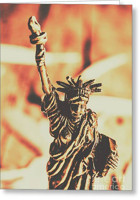 Liberty Will Enlighten The World Greeting Card by Jorgo Photography - Wall Art Gallery