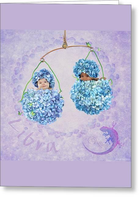 Libra Greeting Card by Anne Geddes