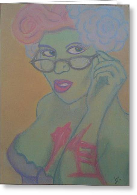 Library Pastels Greeting Cards - Librarian Zombie Greeting Card by Jason Longbrake