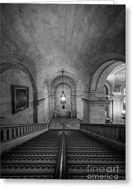 Library Staircase Greeting Card by Inge Johnsson