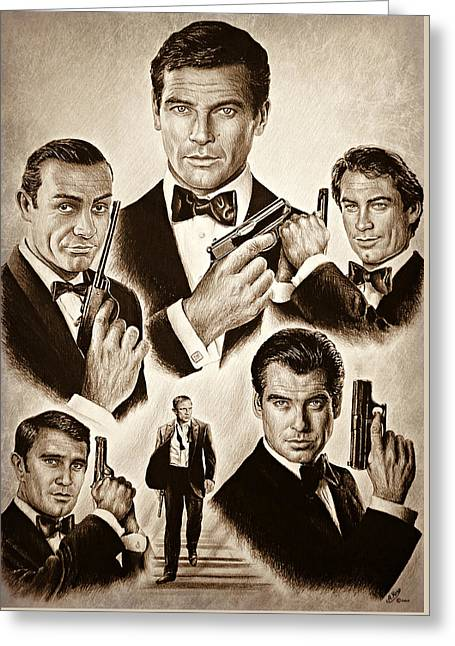 Licence To Kill Smooth Edit Greeting Card by Andrew Read
