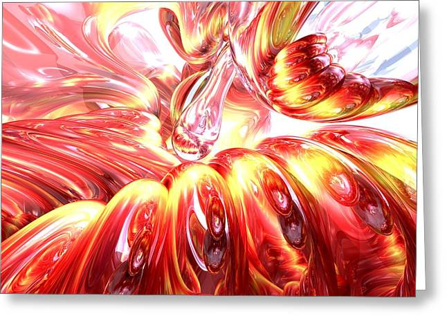 Euphoria Greeting Cards - Licorice Euphoria Abstract Greeting Card by Alexander Butler