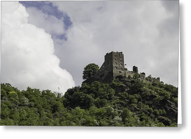 Boat Cruise Greeting Cards - Liebenstein Castle Squared Greeting Card by Teresa Mucha