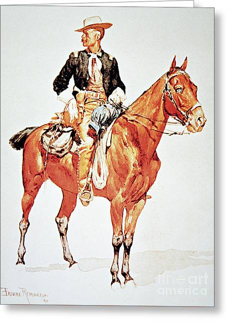 Lieutenant S C Robertson, Chief Of The Crow Scouts Greeting Card by Frederic Remington