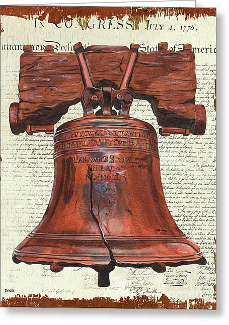 Life And Liberty Greeting Card by Debbie DeWitt