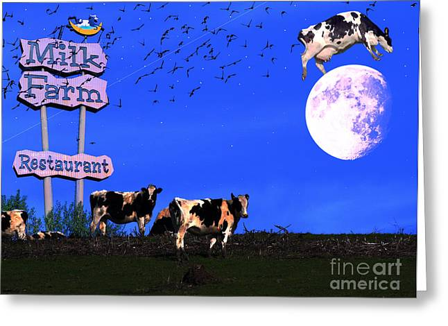 Nursery Rhyme Mixed Media Greeting Cards - Life At The Old Milk Farm Restaurant After The Lights Went Out For The Last Time In 1986 Greeting Card by Wingsdomain Art and Photography