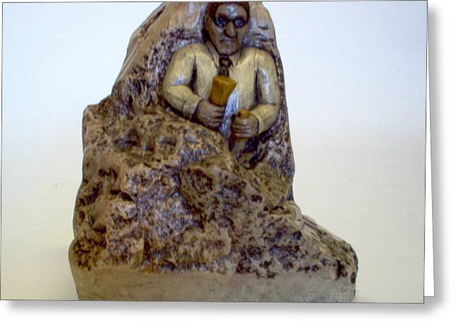 Soapstone Sculptures Greeting Cards - Life Greeting Card by C W Hooper