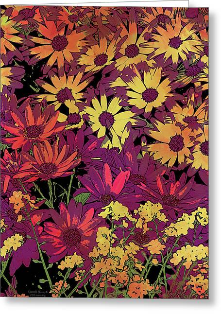 Home Decor Photography Greeting Cards - Life in Flowers Greeting Card by JQ Licensing