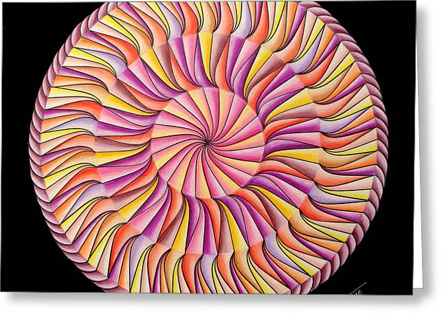 Geometrical Pastels Greeting Cards - Life in Movement Greeting Card by Marcia Lupo
