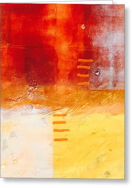 Sienna Greeting Cards - Life in Orange Greeting Card by Nancy Merkle