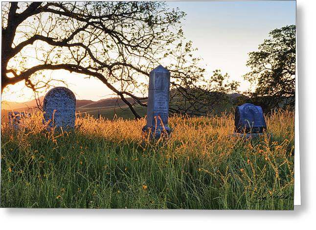 Pea Ridge Greeting Cards - Life in Pea Ridges Old Settlers Cemetery Greeting Card by Doug Holck