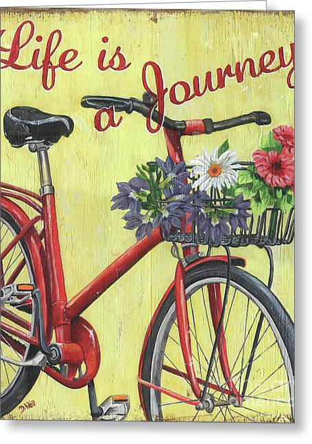 Life Is A Journey Greeting Card by Debbie DeWitt