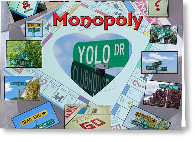 Monopoly Greeting Cards - Life is A Monopoly Greeting Card by Phyllis Bradd
