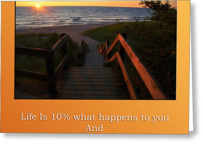 Staircase Mixed Media Greeting Cards - Life Is And Should Be Many Sunrises Greeting Card by Thomas Woolworth