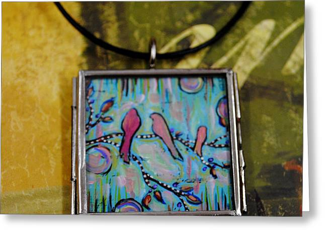 Acrylic Art Jewelry Greeting Cards - Life is but a Dream Greeting Card by Dana Marie