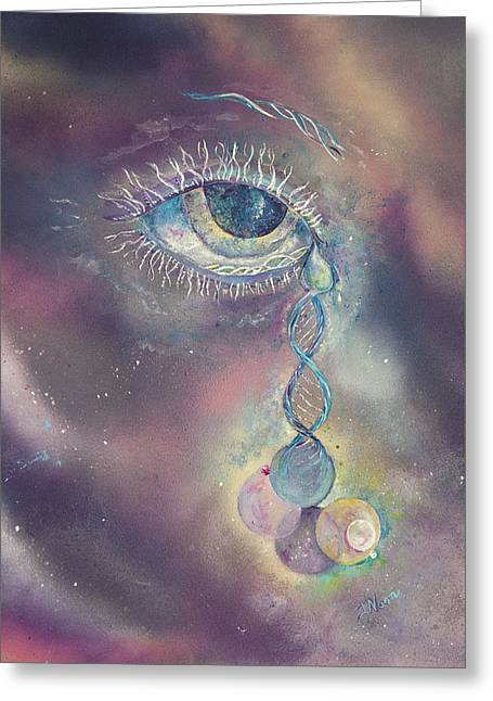 Tears Greeting Cards - Life Is Just A Blink Greeting Card by Jo Noon