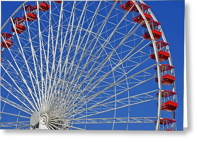 Interior Scene Greeting Cards - Life is like a Ferris Wheel Greeting Card by Christine Till