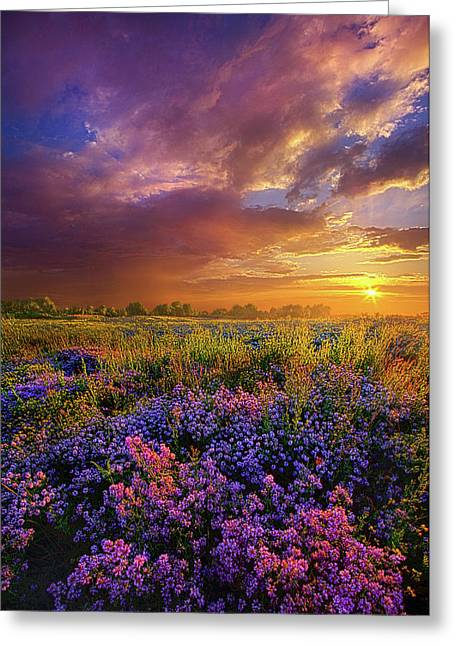 Life Is Measured In Moments Greeting Card by Phil Koch