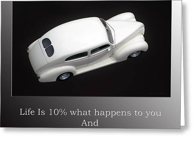 Motivational Poster Greeting Cards - Life Is Not Always Black And White Greeting Card by Thomas Woolworth
